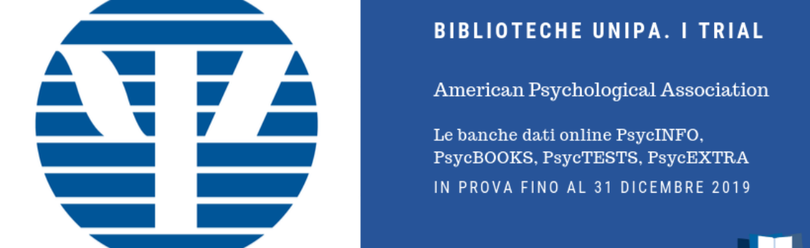 TRIAL / American Psychological Association (APA): 4 banche dati in prova