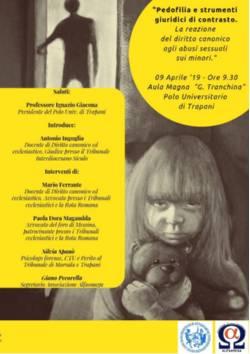 Locandina Pedofilia 9 aprile 2019