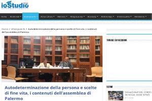 Autodeterminazione della persona e scelte di fine vita, i contenuti dell'assemblea di Palermo
