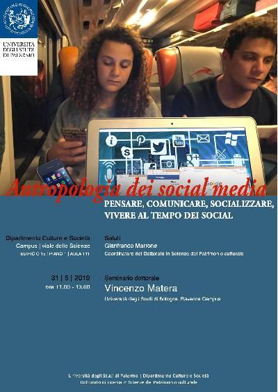 Locandina - Antropologia dei Social Media