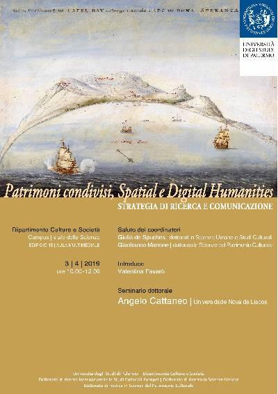 Locandina - Patrimoni condivisi, Spatial e Digital Humanities