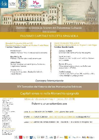 Locandina Palermo Capitale eta spagnola