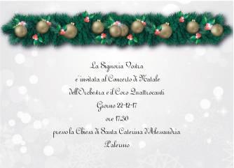 invito 22 dicembre