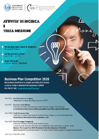 A3 locandina-Business plan competition 2020