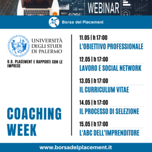Webinar Borsa del Placement UniPa-Placement 11-15 maggio 2020