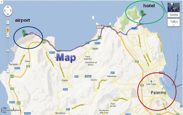 map to reach hotel la torre