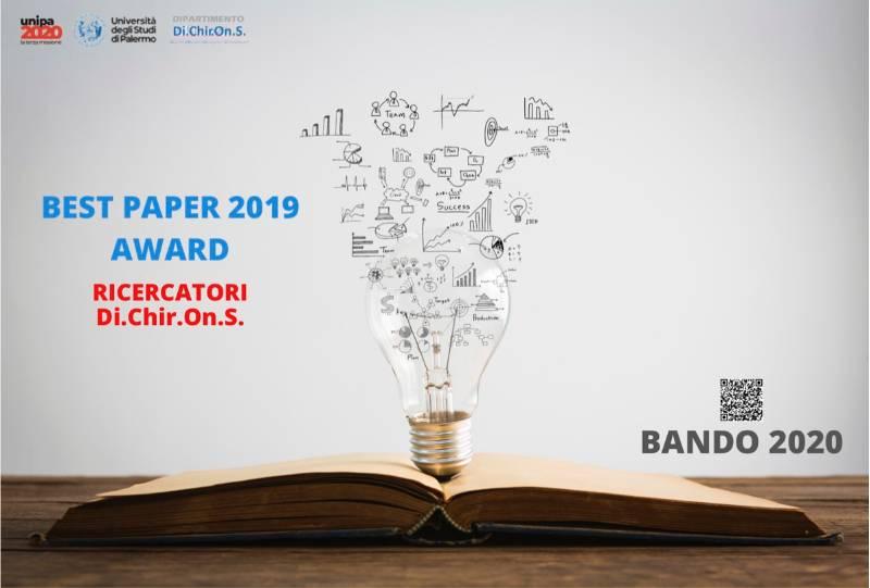 Dip.DiChirOnS- BEST PAPER AWARD 2019 -Bando 2020