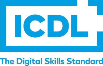 ICDL logo with strap STACKED
